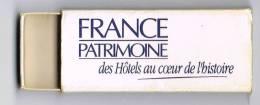 Italia Vecchia Scatola Vuota Di Fiammiferi ´FRANCE PATRIMONE Des Hotels Au Coeur De L´histoire´  Usata - Scatole Di Fiammiferi