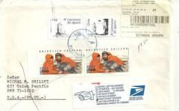 CHILI.Deux Scientifiques Et Petrel Geant, T-p Sur Lettre Recommandée,adressée USA & Retour. Deux Photos - Philatélie Polaire