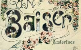 Anderlues - Un Baiser De ... - Jolie Fantaisie -1910 ( Voir Verso ) - Anderlues