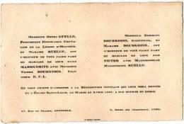 Carte Invitation Mariage -1927-( Papier Cartonnée) - Mariage