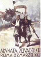 Lámina Propaganda 2ª Guerra Mundial. Italiana. - Documentos