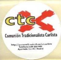 Pegatina Comunión Tradicionalista Carlista. CTC Cruz De San Andrés. - Documentos