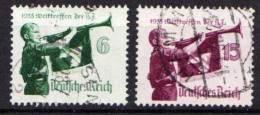 Deutsches Reich, 1935, Mi 584-585 X Welttreffen Der Hitler-Jugend, Gestempelt [030213I] @ - Deutschland
