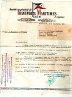 SOCIETE GENERALE DE TRANSPORTS MARITIMES A VAPEUR (S.G.T.M.) 1951 - Titres De Transport