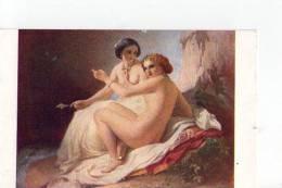 T.A. De Neff - Deux Jeunes Filles à La Grotte - Peintures & Tableaux