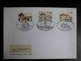 FDC Switzerland (Helvetia) 1994 Georges Simenon  Joint issue Belgium - France - Switzerland