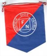 Banderín Fuerza Nueva. Dios, Patria, Justicia. Blas Piñar. Original. Años ´70-´80. - Banderas