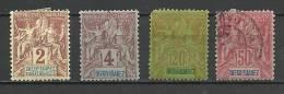 """Diego-Suarez YT 39 40 44 48 """" Statues,  4 Tp """" 1893 Neuf* Et Oblitéré"""