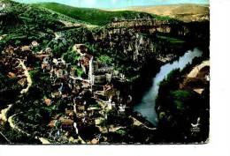 46 ST SAINT CIRQ LAPOPIE  VUE AERIENNE DEFAUT - Cahors