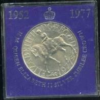 Grande-Bretagne Great Britain 25 New Pence 1977 25 Ans De Régne Coin Card BU KM 920 - 1971-… : Monnaies Décimales