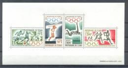MR406b SPORT OLYMPISCHE SPELEN Voetbal Atletiek OLYMPIC GAMES Soccer Athletics TCHAD 1964 PF/MNH # - Zomer 1964: Tokyo