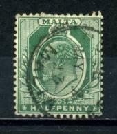 MALTA    1904     1/2d   Green     USED - Malta