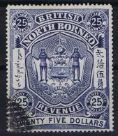 North Borneo: 1894 25 Dollar Used - North Borneo (...-1963)