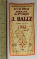 Etiquette RHUM VIEUX Agricole Martinique Millésime 1993 Le Carbet - Rhum