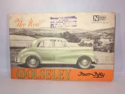 Dépliant Publicité Pour Auto Wolseley Four Fifty. - Reclame