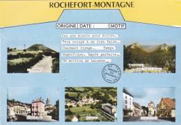 ROCHEFORT-MONTAGNE 63, TELEGRAMME HUMOURISTIQUE MULTI-VUES - Frankrijk