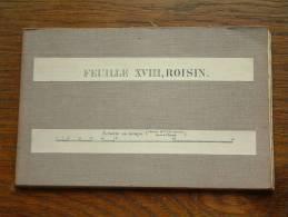 ROISIN Feuille XVIII / 100.000 - Honnelles / Henegouwen - Belgie ( Achterzijde Soort Jute ) 1908  E. Smekens ! - Europa