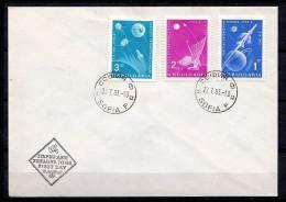 Scarce SPACE FDC Bulgaria 1963 (bul 7) - FDC & Commemorrativi