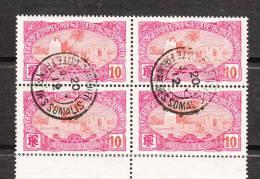 COTES DES SOMALIES BLOC DE 4 YT 71 OBLITERES** 20 JUIN 1912 - French Somali Coast (1894-1967)