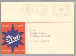 Motiv Ernährung Bonbon Disch 1949-03-07 Othmarsingen Schweiz Firmenfreistempel - Alimentation