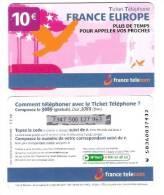 France - Frankreich - FT - 10€ - Limite Date: 31.01.2008 - W5836 - Ticket Telephone - Frankreich