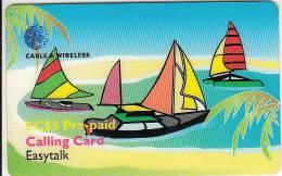 ST. VINCENT & THE GRENADINES - Sailing Boats, C & W Prepaid Card EC$5(SVD-06), Exp.date 08/00, Used - San Vicente Y Las Granadinas