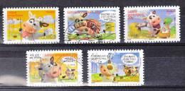 FRANCE / 2007 / Y&T N° 4089/4093 Ou AA 134/AA 138 : Vaches (5 TP) - Usuels Dont Certains D´époque - Frankreich