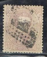Sello 10 Cts Violeta Amadeo 1872, Edifil Num 120 º - 1872-73 Reino: Amadeo I