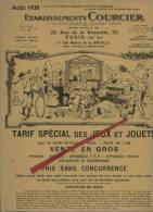 Catalogue Jeux Et Jouets Des Etablissements COURCIER Août 1938,28 Pages Dim:(24X31) - Mode