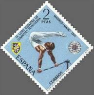 España 1971 Edifil 2035 Sello ** IX Campeonato Europeo De Gimnasia Masculina Barra Fija 2Pts Spain Stamps Espagne Timbre - 1931-Hoy: 2ª República - ... Juan Carlos I