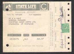 PAKISTAN 1974 Revenue Document From State Life With 40 Paisa Revenue Stamp 28-5-1974 - Pakistan