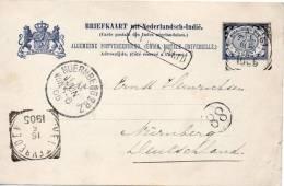 INDES NEERLANDAISES ENTIER POSTAL POUR L'ALLEMAGNE 1905 - Netherlands Indies