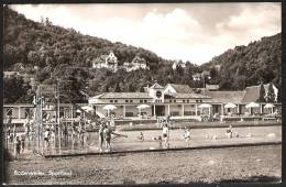Badenweiler Sportbad 1955 Karte Gelaufen MiNr.183 Gest.55 ( D 982 ) - Badenweiler