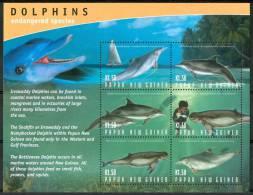 2003 Papua Nuova Guinea Delfini Dolphins Dauphins Cetacei Cetaceans Cètacès Block MNH** C156 - Tokelau