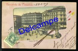 1909 PHOTO POSTCARD RECUERDO MADRID SPAIN  ESPANA CARTE POSTALE TRAM - Madrid
