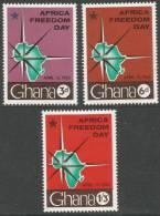 Ghana. 1962 Africa Freedom Day. MH Complete Set - Ghana (1957-...)