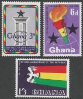 Ghana. 1962 2nd Anniv. Of The Republic. MH Complete Set - Ghana (1957-...)