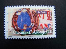 OBLITERE FRANCE ANNEE 2010 N° 460 SERIE ART ROMAN CITEAUX L´ABBAYE COTE D´OR  AUTOCOLLANT ADHESIF - France