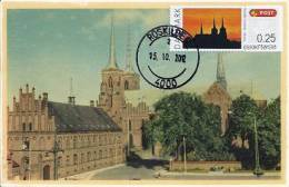 318. DENMARK / DANEMARK - Carte Maximum Card - ATM 2012 - NORDIA 2012 - Roskilde Cathedral - Maximumkaarten