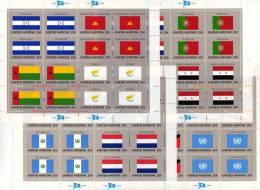 Kleinbogen UNO Flaggen X 1989 New York 579/94+ 4KB ** 55€ CYPRUS BRUNEI LESETHO NIGERIA SYRIAN NEVIS Bf Flag Sheet Of UN - Postzegels