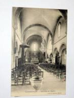 Carte Postale Ancienne : GARGENVILLE : Interieur De L'Eglise - Gargenville