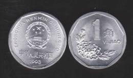 CHINA  1  JIAO  1.993   ALUMINIO   KM#328     SC/UNC    DL-9806 - China