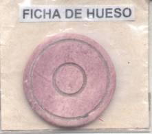 ANTIGUA FICHA DE CASINO 1900s MATERIAL HUESO BONE BONES - REPUBLICA ARGENTINA ORIGINAL BONE BONES - Casino