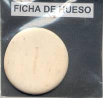 FICHA CIRCA 1910 - DE HUESO BONE BONES ORIGINAL -REPUBLICA ARGENTINA CASINO ????? - Casino