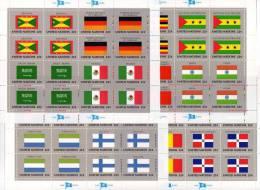 Kleinbogen UNO Flaggen VI 1985 New York 472/87+ 4KB ** 40€ MEXICO USSR OMAN INDIA GHANA CHAD ARABIA BRD Flag Sheet Bf UN - Postzegels