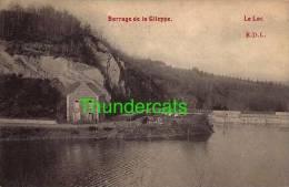 CPA BARRAGE DE LA GILEPPE LE LAC - Gileppe (Barrage)
