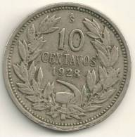Chile 10 Centavos 1928  KM#166 - Cile