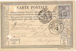 LPU5 - FRANCE CPO MOD. JUILLET 1877 VOYAGEE TOULOUSE / LA ROCHELLE 15/10/1877 - Entiers Postaux