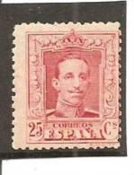 España/Spain-(MNH/**) - Edifil  317 - Yvert  279 - 1889-1931 Kingdom: Alphonse XIII