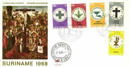 Surinam 1968 NVPH 490-494 Mi. 533-537 FDC, Easter Days